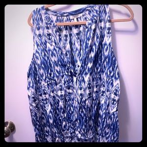 Joie Blue and white tank too. Size large